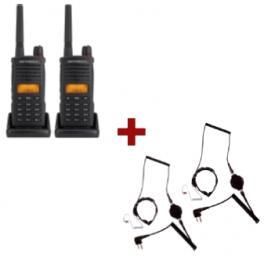 2-pack Motorola XT-660 + 2x throat microphone