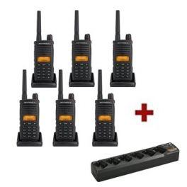 Talkies-walkies Motorola XT660D - Pack de 6 - Chargeurs Inclus