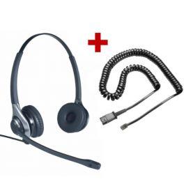 Auricular OD HC 45 + Cable QD U10-PS - RJ9 para Panasonic y Yealink