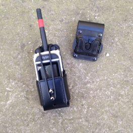 Etui universel en cuir pour talkie walkie