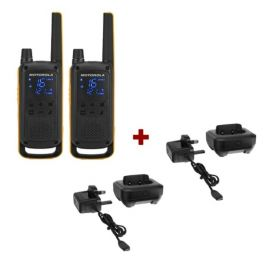 Pack de 2 Motorola Talkabout T82 + Socles de charge