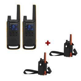Pack de 2 Motorola Talkabout T82 + Étuis de protection