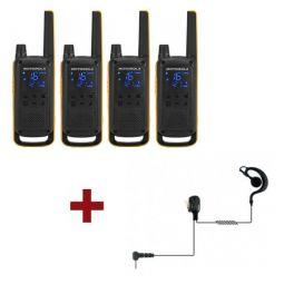 Motorola T82 Extreme quad + 4 kits écouteurs PTT