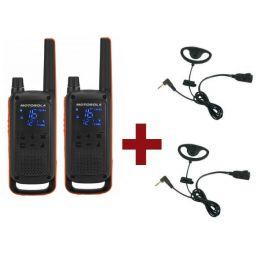 Motorola Talkabout T82 + Kit Earloop x 2
