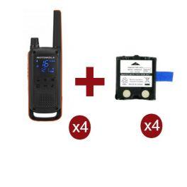 Pack de 4 Motorola Talkabout T82 + Batteries de rechange