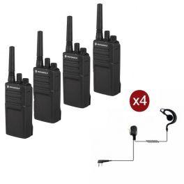 Pack de 4 Motorola XT420 + 4 Oreillettes PTT