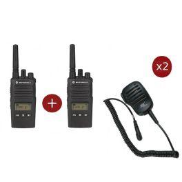 Pack Duo Motorola XT460 avec 2 Micros Haut-parleur