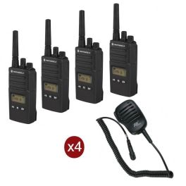 Pack de 4 Motorola XT460 avec 4 Micros Hauts-parleurs