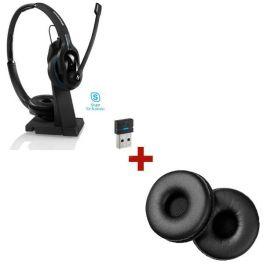 Casque Bluetooth binaural Sennheiser MB Pro 2 UC ML + 2 Coussinets d'oreille en cuir synthétique