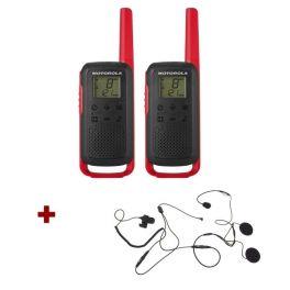 Pack de 2 Motorola T62 Rouge + Micro casque