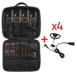 Pack de 4 Motorola Talkabout T82 Extreme + Kit Earloop